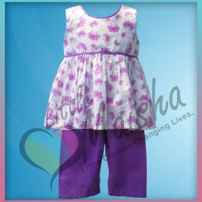 Butterfly Capri Set from Treasure Box Kids